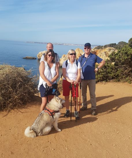 Only 5 walkers and one dog today but we all enjoyed the company and the beautiful coastline.